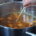 broth cooking on the stove